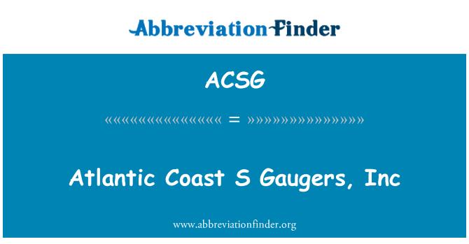 ACSG: Atlantic Coast S Gaugers, Inc