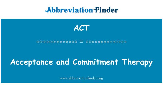 ACT: 接受和託付療法