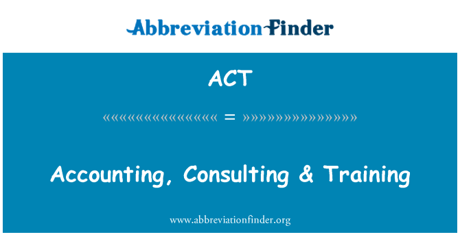 ACT: 會計、 諮詢 & 培訓