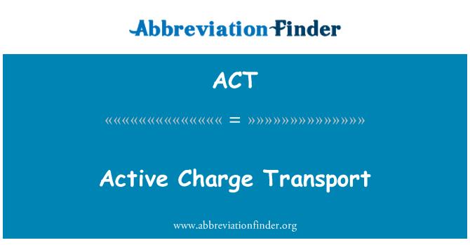 ACT: 活躍的電荷輸運