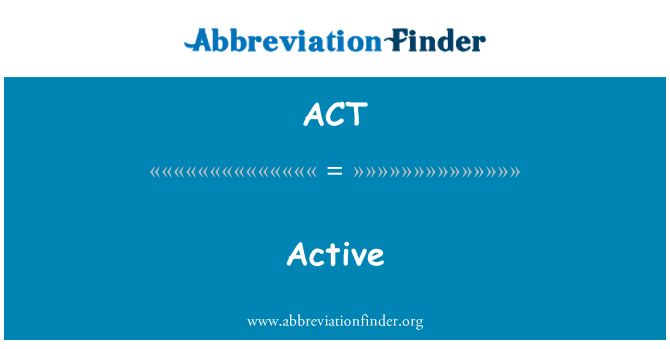 ACT: 活動