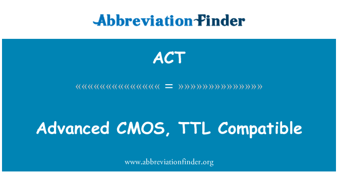 ACT: 先進 CMOS,TTL 相容