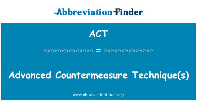ACT: उन्नत Countermeasure Technique(s)