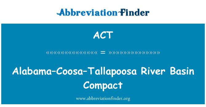 ACT: 阿拉巴馬州 — — 薩 — — 塔拉普薩河盆地緊湊