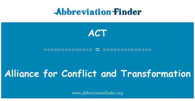ACT: 衝突和變革聯盟