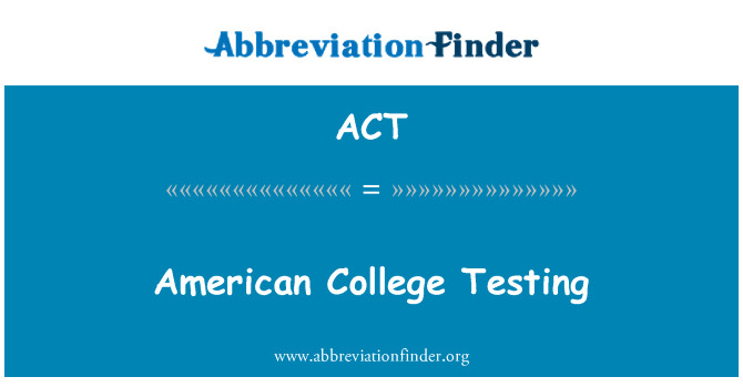 ACT: American College testimine