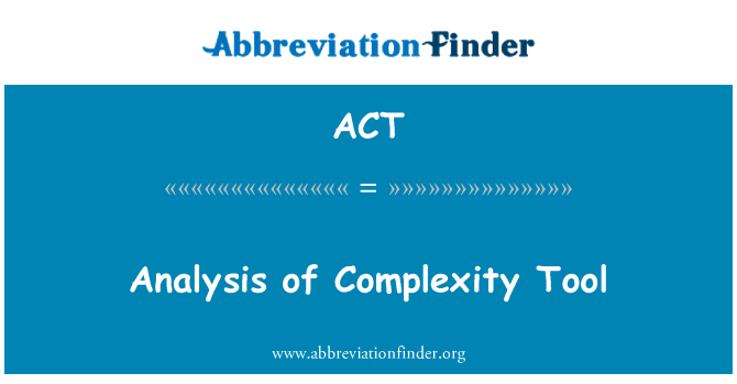 ACT: Analysis of Complexity Tool