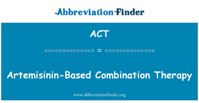 ACT: 以青蒿素為基礎的聯合療法