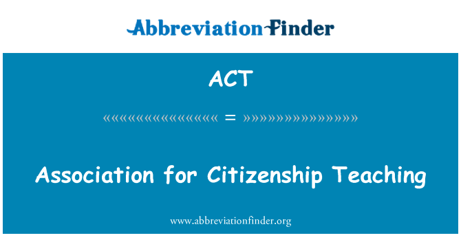 ACT: Association for Citizenship Teaching
