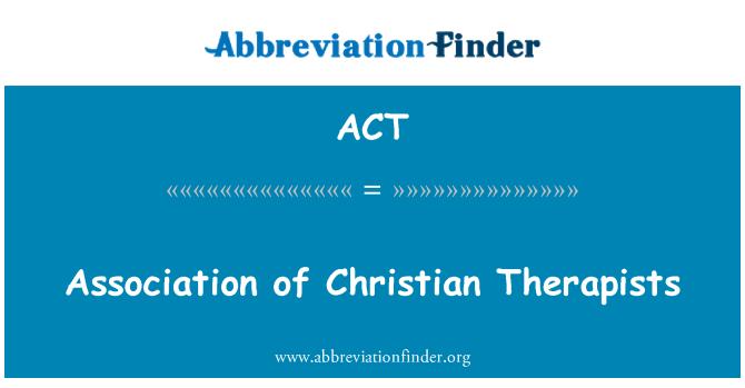 ACT: 基督教治療師協會