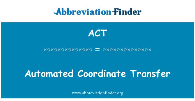ACT: 自動化的座標轉換