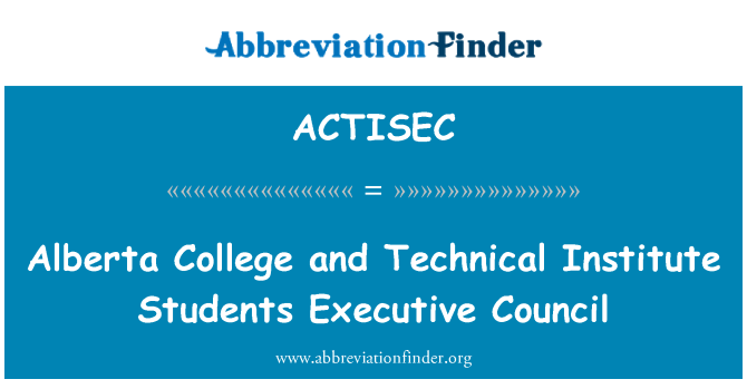 ACTISEC: Alberta College and Technical Institute Students Executive Council