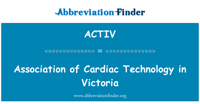 ACTIV: 在维多利亚州的心脏技术关联性