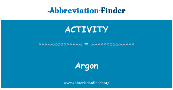 %26%23197%3B: Argon