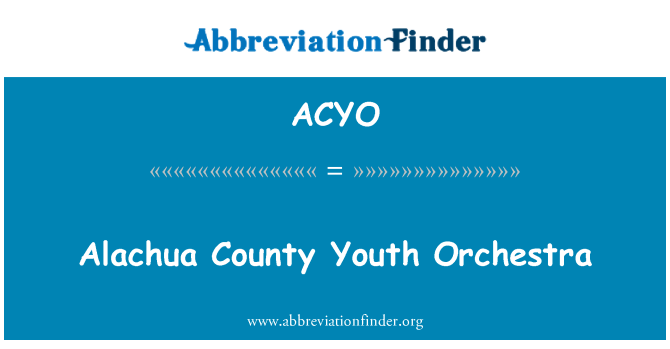 ACYO: Alachua County Youth Orchestra