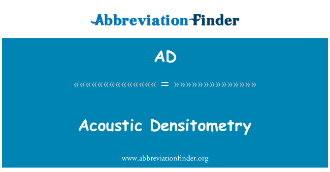 AD: Acoustic Densitometry