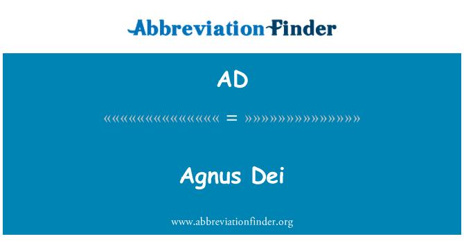 AD: Agnus Dei