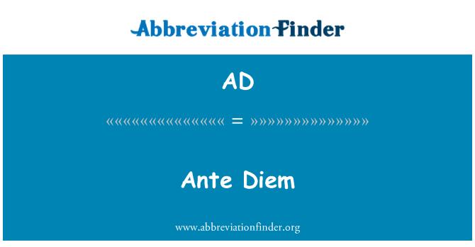 AD: Ante Diem