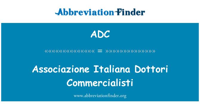 ADC: Associazione Italiana Dottori Commercialisti