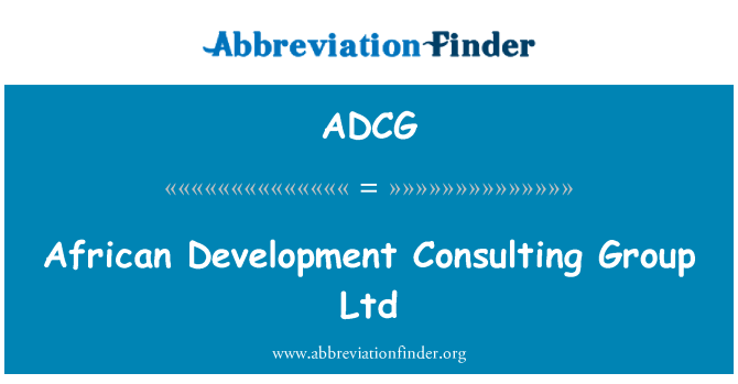 ADCG: African Development Consulting Group Ltd