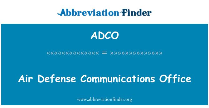 ADCO: Oficina de comunicaciones de defensa aérea