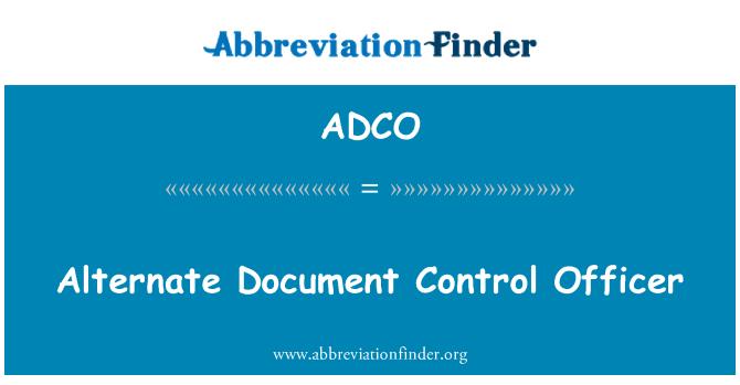 ADCO: Oficial de Control de documento alternativo