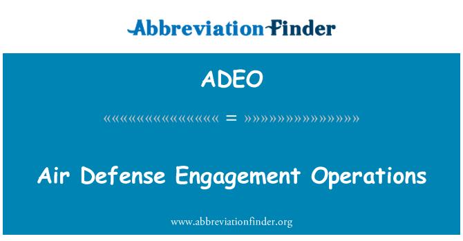 ADEO: Operaciones aéreas defensa compromiso