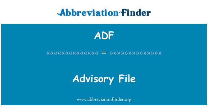 ADF: Advisory File