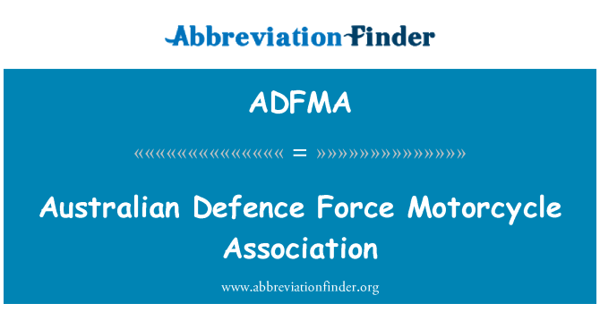 ADFMA: Australian Defence Force Motorcycle Association