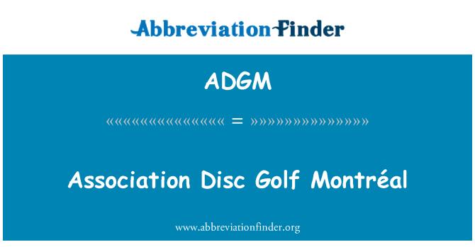 ADGM: Association Disc Golf Montréal