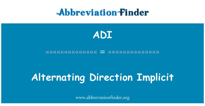 ADI: Alternating Direction Implicit