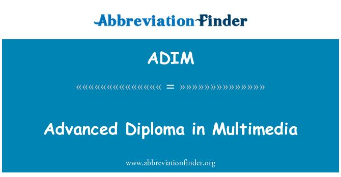 ADIM: Multimedya ileri seviye Diploma