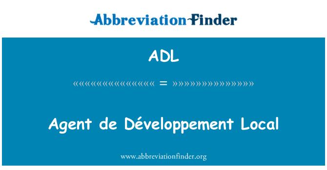 ADL: Agent de Développement Local