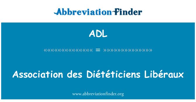 ADL: Association des Diététiciens Libéraux