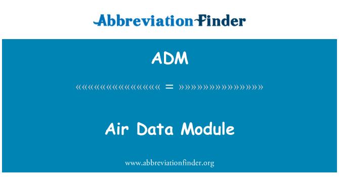 ADM: Air Data Module