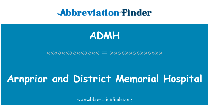 ADMH: Arnprior and District Memorial Hospital