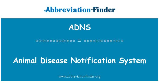 ADNS: Sistema de notificación de enfermedades de los animales