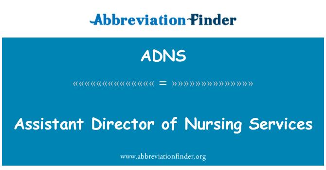 ADNS: Subdirector de servicios de enfermería