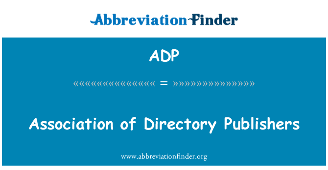 ADP: Association of Directory Publishers