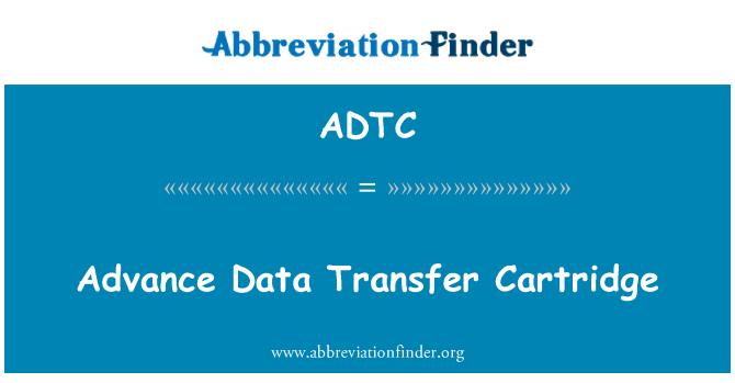 ADTC: Önceden veri aktarımı kartuş