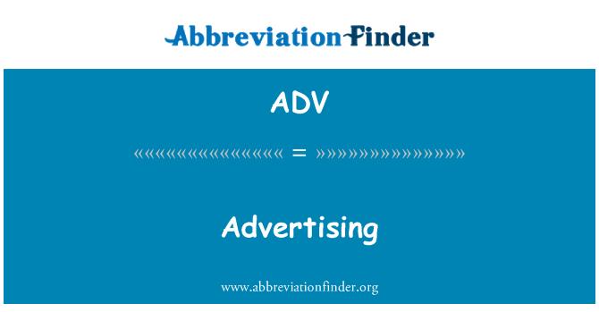 ADV: Advertising