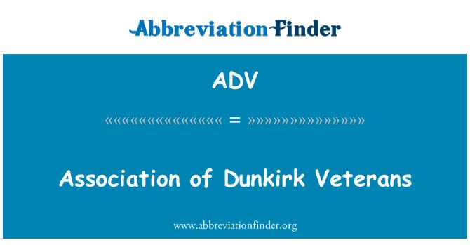 ADV: Association of Dunkirk Veterans