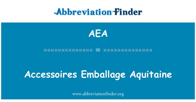 AEA: Accessoires Emballage Aquitaine