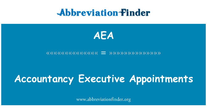 AEA: Accountancy Executive Appointments