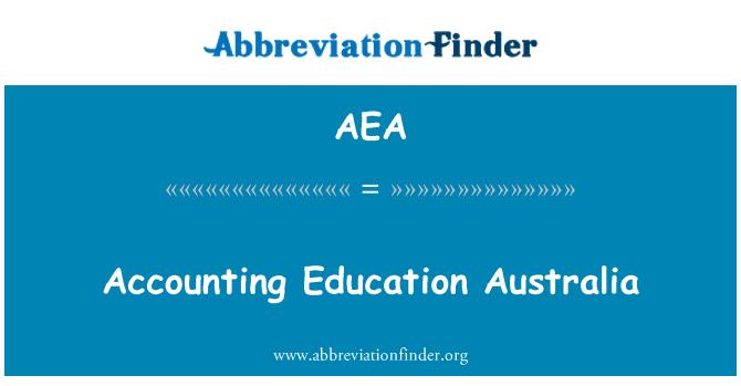AEA: Accounting Education Australia