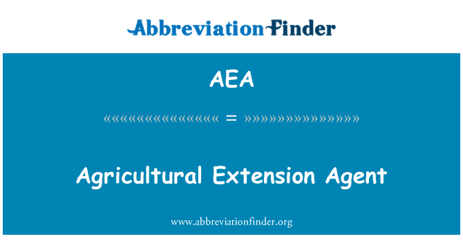 AEA: Agricultural Extension Agent