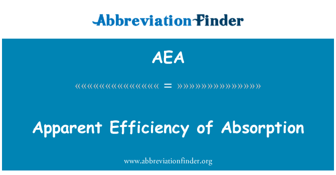 AEA: Apparent Efficiency of Absorption
