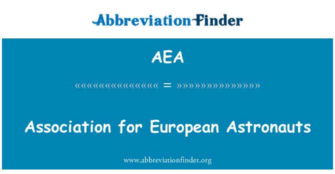 AEA: Association for European Astronauts