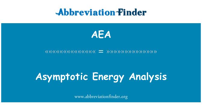 AEA: Asymptotic Energy Analysis