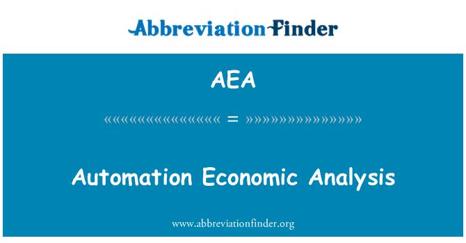 AEA: Automation Economic Analysis